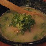 鳥舎 あかさき - スープ雑炊