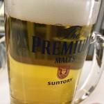 酒のデパート ヒトモト 立ち呑みカウンター - 生ビール