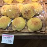 原信カフェ - 黄金のメープルメロンパン(税抜160円)