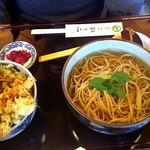 藤かけ - お蕎麦とアサリのかき揚げ丼