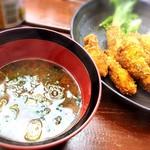 かき太郎 - 牡蠣入り味噌汁♡