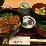 80811929 - H.29.10.25.昼 選べる!丼ランチ(鰻葱海苔丼) 1,550円税込