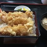 能登屋 - 上天丼(汁つき)1,400円