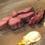 シロオビ - フィレ肉の鉄板焼き