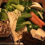 我那覇豚肉店 - しゃぶしゃぶの野菜です。