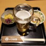 銀座 ハゲ天 - ビール定食。なんつって。