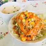 エンジラ - セットのサラダ&スープ