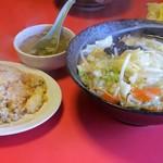 和光飯店 - 料理写真:フライ麺&小炒飯のセット850円(税込)
