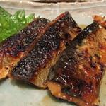 石臼挽きそば 石月 - 塩秋刀魚の蒲焼