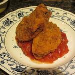ふ~ち~く~ち~ - あぐー豚のメンチカツ トマトソース