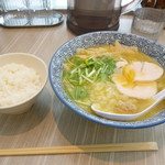 麺匠 桂邸 - ライス&ゆず塩鶏白湯らーめん