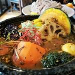 スープカレーと季節野菜ダイニング 彩 - ハーブがたつぷり