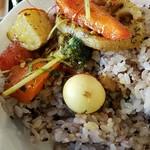 スープカレーと季節野菜ダイニング 彩 - 十穀米にオン