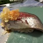 第三春美鮨 - 真鰺 70g 瀬付き 定置網 兵庫県沼島