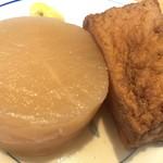 うどんウエスト - おでん 1つ100円 美味しい。