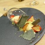 et NOU - いちごとマスカルポーネのムースとバニラアイス、よもぎのメレンゲ