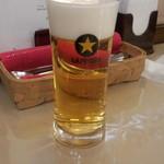 フォカッチャ - グラスビール(500円)