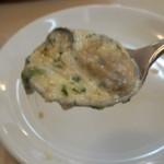 フォカッチャ - 牡蠣のグラタン