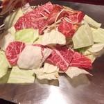一心亭 - 牛肉と野菜