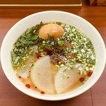 蘭州料理 ザムザムの泉 - 牛大(蘭州牛肉麺)醬牛肉、味玉セット 麺大盛(1,250円) 2018.2