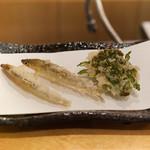 天ぷら やじま。 - わかさぎと菜の花