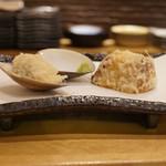 天ぷら やじま。 - 蛤、さつまいも