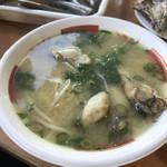 魚稚 - 牡蠣ラーメン♪