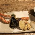 磯平 - カニづくしコース   天ぷら