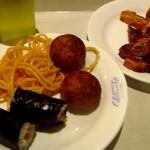 焼肉バイキング ウエスタン - 料理写真:たらコスパ、納豆巻き