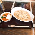 80848527 - 小柱とカニのトマトクリームつけ麺   950円