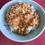 80849372 - キムチ納豆ご飯  玉ねぎの食感が良いです!