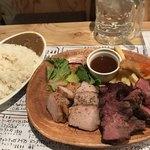 パテ屋 - 肉あいもりステーキプレート 950円