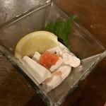 栄 馬肉酒場 馬喰ろう - 馬の白子ポン酢(セキズイ)680円