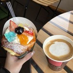 クレープチョッパー - 料理写真:氷濤ブリュレとカフェラテ