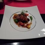 あじ蔵 カロカロ - 牡蠣のソテー、茄子、ミニトマト、オイスターソース