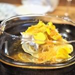 やまぐち - 白魚と黄色トマトの冷製カッペリーニ カラスミ風味