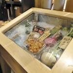 蔵人厨 ねのひ - おススメ食材の展示