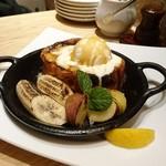 むさしの森珈琲 - ふわっとろフレンチトースト キャラメルバニラ ¥830+税
