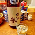 白菊屋 - ドリンク写真:「東北泉 純米 しぼりたて本生」(高橋酒造店)。