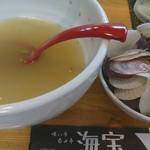 海宝 - 帆立ラーメン食後(2017/8/2)