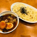 好日 - 煮玉子つけめん・少なめ盛(750円)