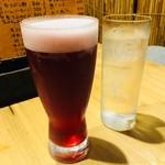 ハルコロ - ハスカップ生ビール(550円)
