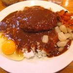 Karehausukirari - エビカツカレー600円、生卵トッピング50円