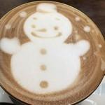 カピアンコーヒー - ☆ カプチーノ… モーニングの飲みものから。季節柄  可愛い絵が 描かれてました╰(*´︶`*)╯♡