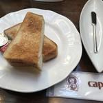 カピアンコーヒー - モーニングの トースト♪