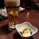 蕎麦・鮮魚 個室居酒屋 へぎ蕎麦 村瀬 - お通しの汲み上げ湯葉