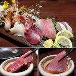 蕎麦・鮮魚 個室居酒屋 へぎ蕎麦 村瀬 - 鮮魚お造り6種盛り
