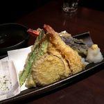 蕎麦・鮮魚 個室居酒屋 へぎ蕎麦 村瀬 - 天ぷら盛り合わせ