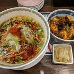 80868347 - 【2018/2】担々麺+ミニ麻婆丼