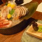 蔵の味 - お造り ヒラメ・甘海老・平貝・えんがわ。新鮮で美味しい☆